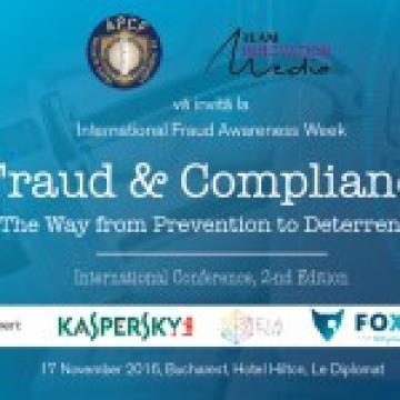 """""""Frauda & Conformitatea – De la Prevenire la Descurajare"""" – 17 Nov 2016"""